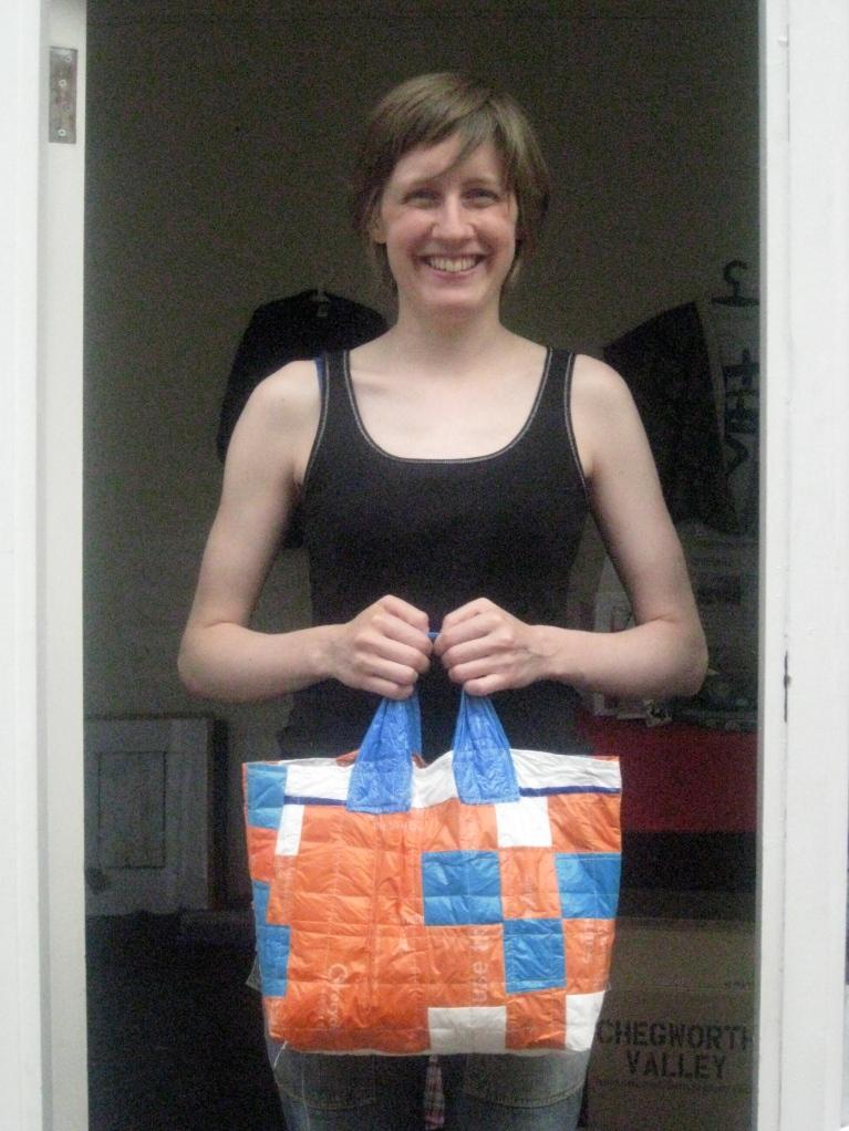 Plastic Fantastic Patchwork Bag © maggie winnall 2010