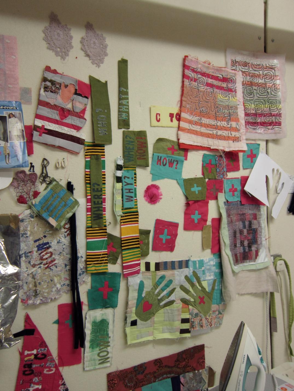 Sewin Studio Wall #1 ©2012 Maggie Winnall
