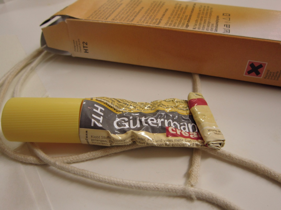 a well used tube of gutterman creatif textile glue