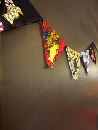 Sewin Studio bunting workshop at the southbank centre village fair 2013 as part of the festival of Neighbourhood-Grow Your Own Ideas