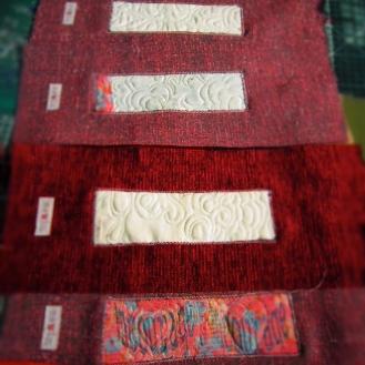 oyster card wallet making in progress by artist maggie winnall