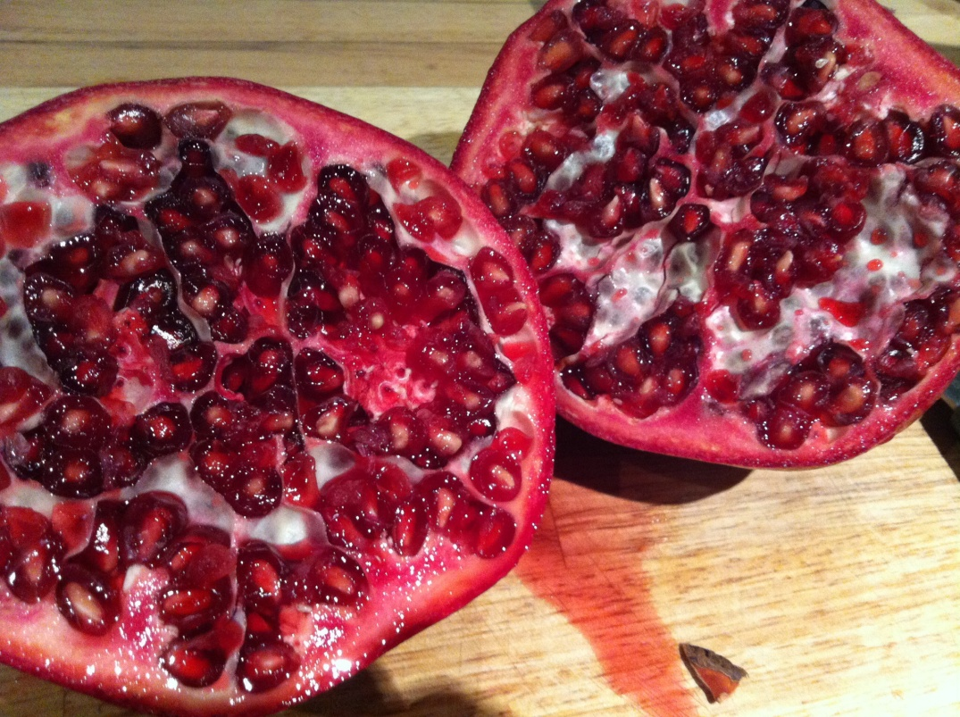 Juicy red pomegranate