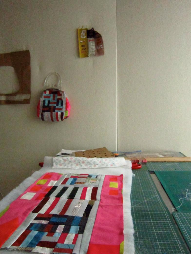 Sewin Studio wearable art handbag in making process