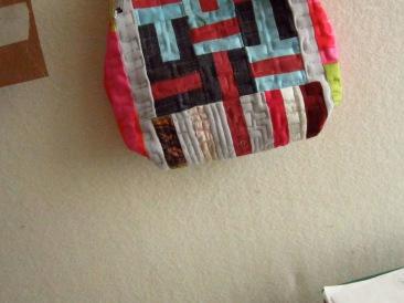 Detail of Re:Love Art to Wear Handbag by Maggie Winnall-Sewin Studio