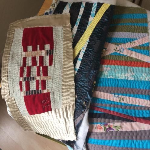 Hand quilted textile art ©️Maggie Winnall @Sewin Studio